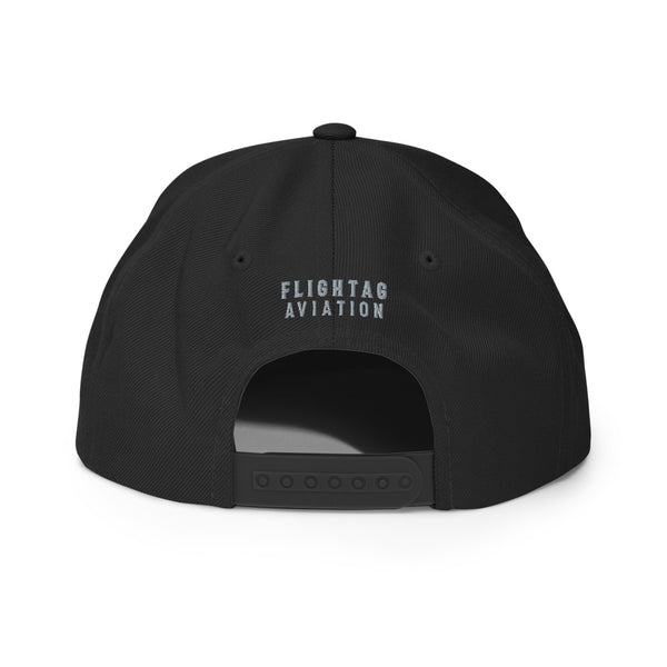 LAX Airport Code Embroidered Snapback Cap