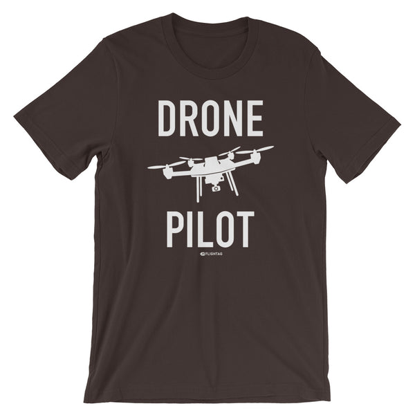 Drone Pilot Men's T-Shirt brown Travel Design T Shirt And Printed Hoodies Vacation Sweatshirt One Gift Airportag Iconspeak Aviation Shop Travlshop Wanderlust PilotMall JetSeam Aviator Gear Travel Notes Wild Blue