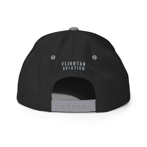 Jet Insignia Embroidered Snapback Cap