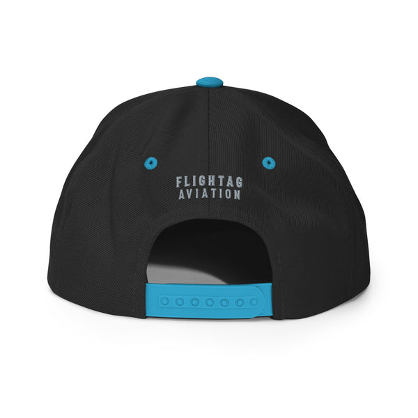 ORD Airport Code Embroidered Snapback Cap