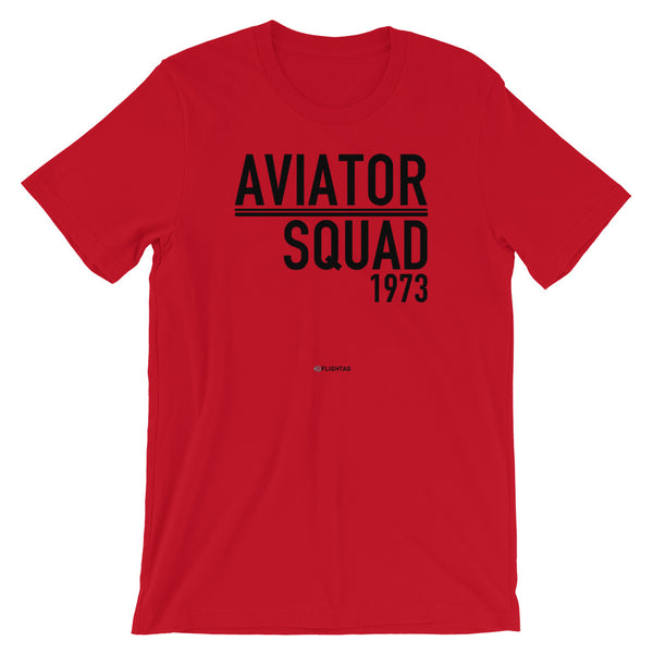 Aviator Squad 1973 T-Shirt red Travel Design T Shirt And Printed Hoodies Vacation Sweatshirt One Gift Airportag Iconspeak Aviation Shop Travlshop Wanderlust   PilotMall JetSeam Aviator Gear Travel Notes Wild Blue