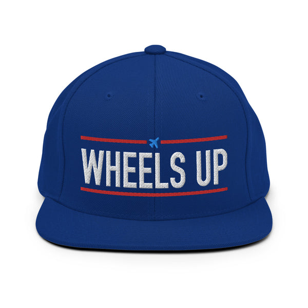 Wheels Up Snapback Embroidered Cap