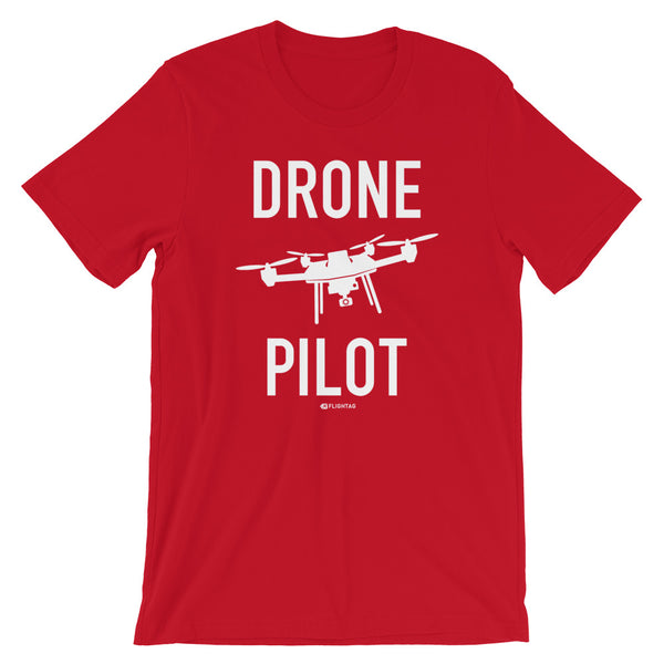 Drone Pilot Men's T-Shirt red Travel Design T Shirt And Printed Hoodies Vacation Sweatshirt One Gift Airportag Iconspeak Aviation Shop Travlshop Wanderlust PilotMall JetSeam Aviator Gear Travel Notes Wild Blue
