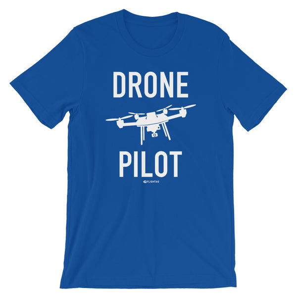 Drone Pilot Men's T-Shirt royal blue Travel Design T Shirt And Printed Hoodies Vacation Sweatshirt One Gift Airportag Iconspeak Aviation Shop Travlshop Wanderlust PilotMall JetSeam Aviator Gear Travel Notes Wild Blue