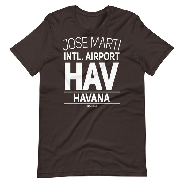 Jose Marti International Airport Havana HAV IATA Code T-Shirt brown And Printed Hoodies Vacation Sweatshirt One Gift Airportag Iconspeak Travlshop Wanderlust PilotMall JetSeam Aviator Gear Travel Notes Wild Blue MyPilotStore Sportys Spreadshirt aviationshirts theaviationstore flightstore pilotexpressions aviationlifeclothing jetstream bobspilotshop piloteyesstore skygeek sportys aviatorwebsite aircraft mechanicshirts siu aviation pilot aeroplane pilotshop aviationclothing24 flyawayapparel