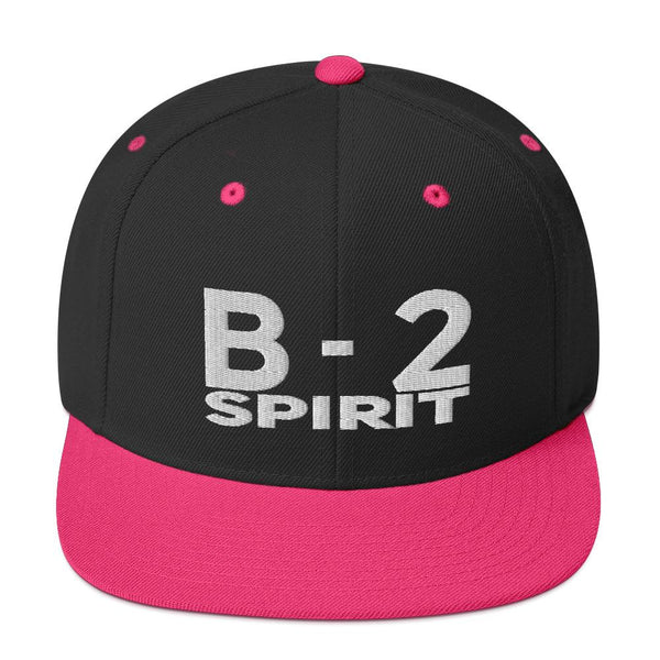 Pilot & Aviation Themed Baseball Caps - B2 Spirit Snapback Embroidered-Flightag