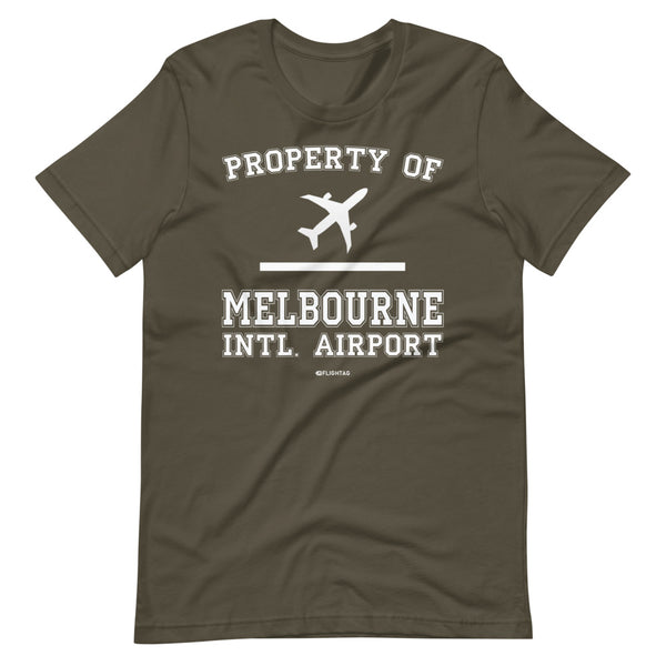 Property Of Melbourne International Airport T-Shirt army