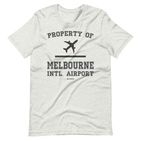 Property Of Melbourne International Airport T-Shirt ash