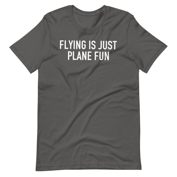 Flying Is Just Plane Fun T-Shirt silver