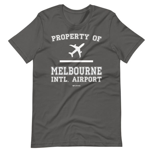 Property Of Melbourne International Airport T-Shirt silver