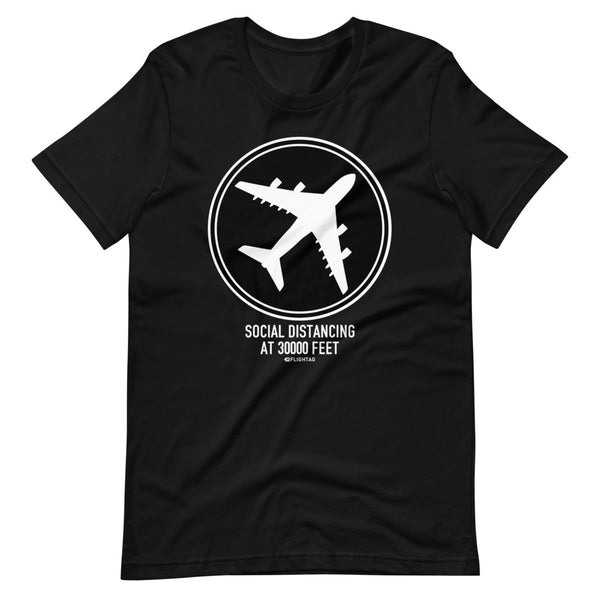 Social Distancing At 30000 Feet T-Shirt black