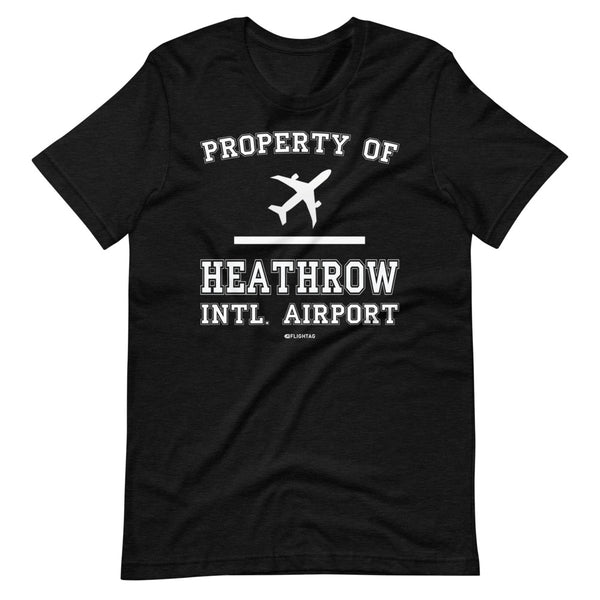 Property Of Heathrow International Airport T-Shirt heather black