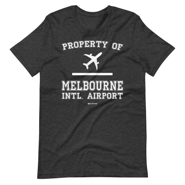 Property Of Melbourne International Airport T-Shirt heather grey