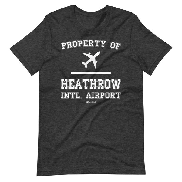 Property Of Heathrow International Airport T-Shirt heather grey