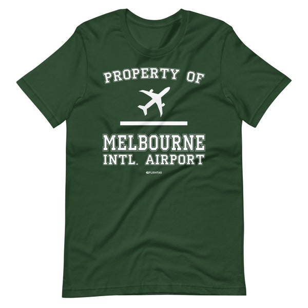 Property Of Melbourne International Airport T-Shirt green