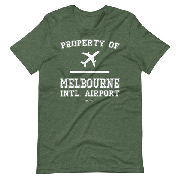 Property Of Melbourne International Airport T-Shirt heather green