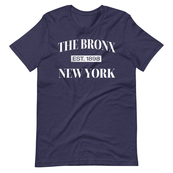 The Bronx New York Est. 1898 Tee Shirt navy heather