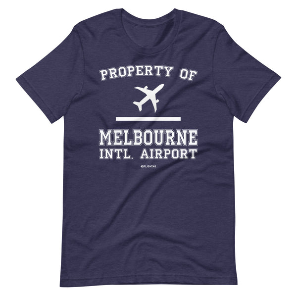 Property Of Melbourne International Airport T-Shirt navy heather