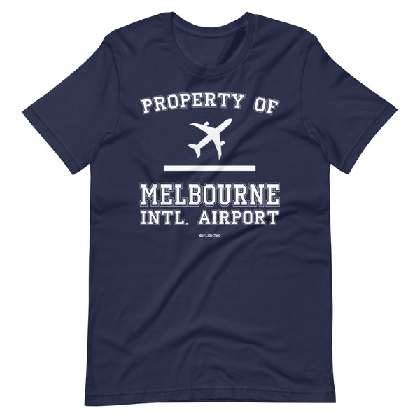 Property Of Melbourne International Airport T-Shirt navy