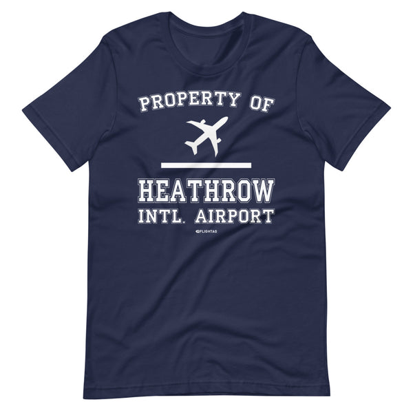 Property Of Heathrow International Airport T-Shirt navy