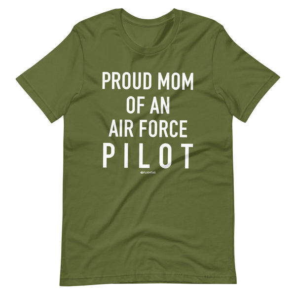 Proud Mom Of An Air Force Pilot - Tee Shirt leaf