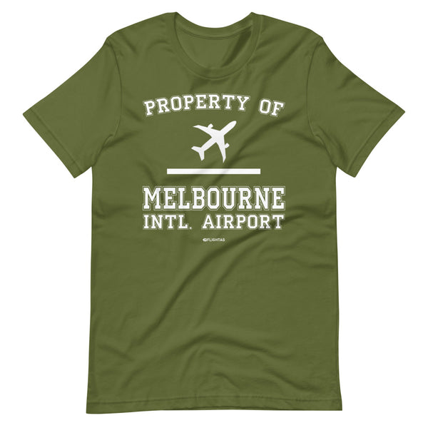 Property Of Melbourne International Airport T-Shirt olive