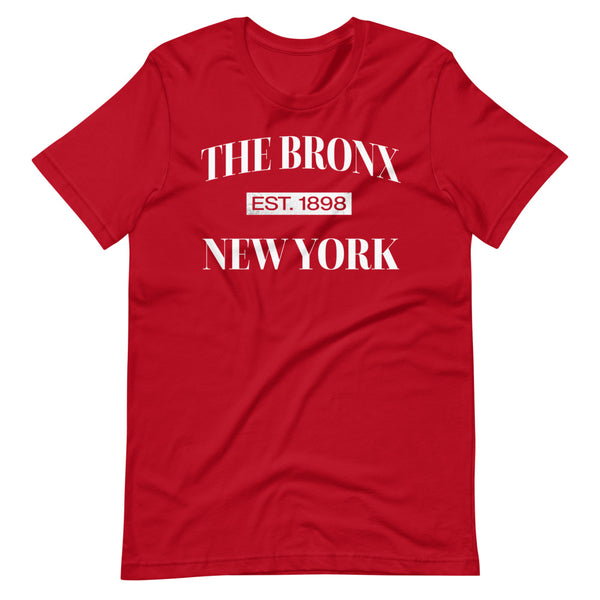 The Bronx New York Est. 1898 Tee Shirt red