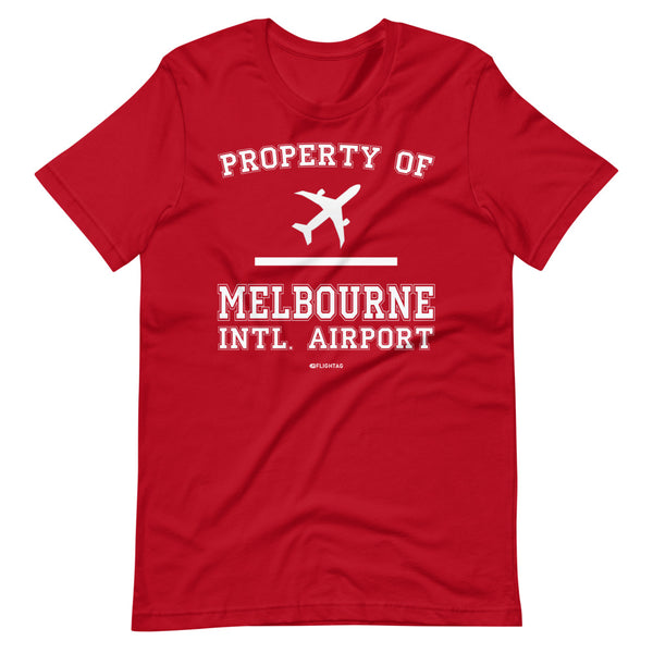 Property Of Melbourne International Airport T-Shirt red