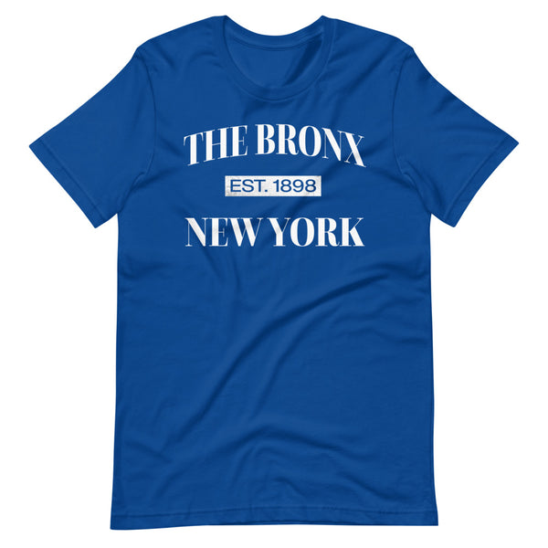 The Bronx New York Est. 1898 Tee Shirt blue