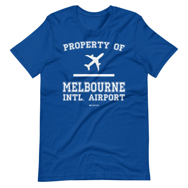 Property Of Melbourne International Airport T-Shirt blue