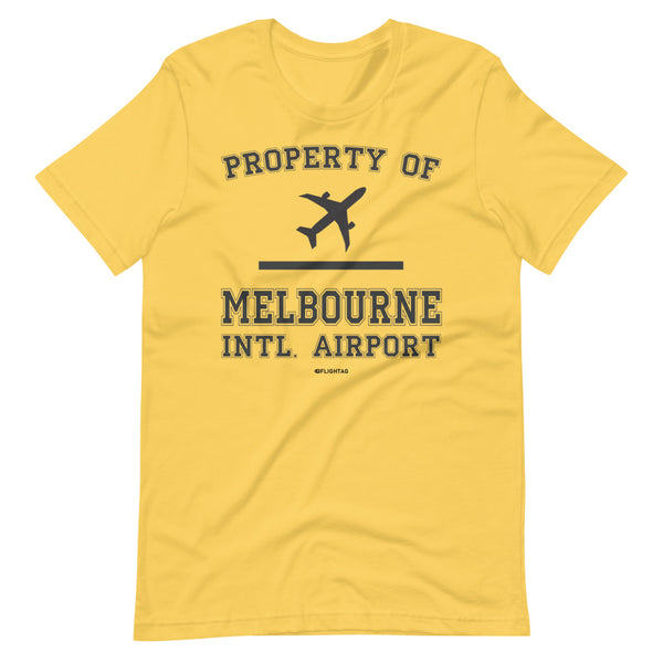 Property Of Melbourne International Airport T-Shirt yellow