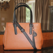 Casual Carrie Color Block Satchel - Concealed Carrie