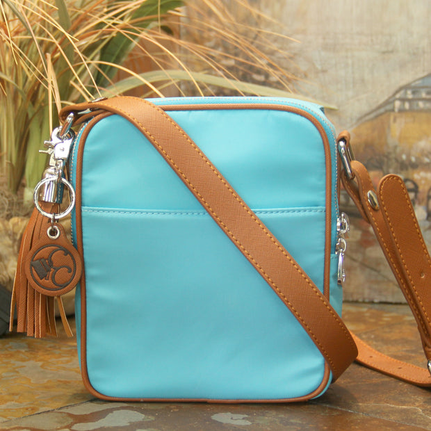 Casual Carrie Crossbody Compact - Turquoise - Concealed Carrie