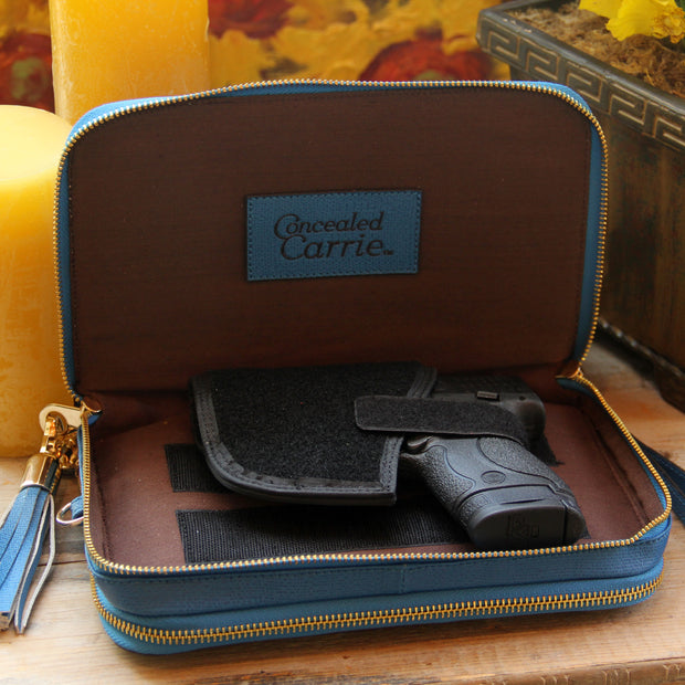 Classic Carrie Cool Blue Leather Compact Carrie - Concealed Carrie