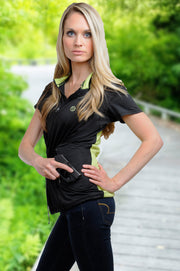 Tactical Carrie Moisture-Wicking Athletic Shirt - Concealed Carrie