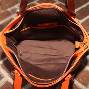 Smooth Pumpkin Leather Tote - Concealed Carrie