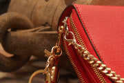 Classic Carrie Bright Red Leather Compact - Concealed Carrie