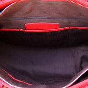 Smooth Red Leather Tote - Concealed Carrie