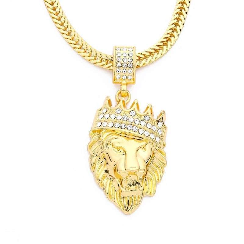 Fake It Iced Out Lion Chain