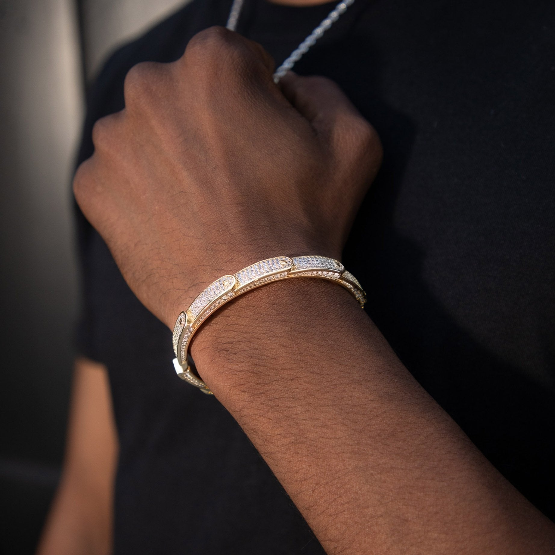 Golden Stacked Band Bracelet - Got Drip - Jewelry - Ice - Jake Paul