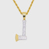 Gold Iced Out Hatchet Pendant - Got Drip - Jewelry - Ice - Jake Paul