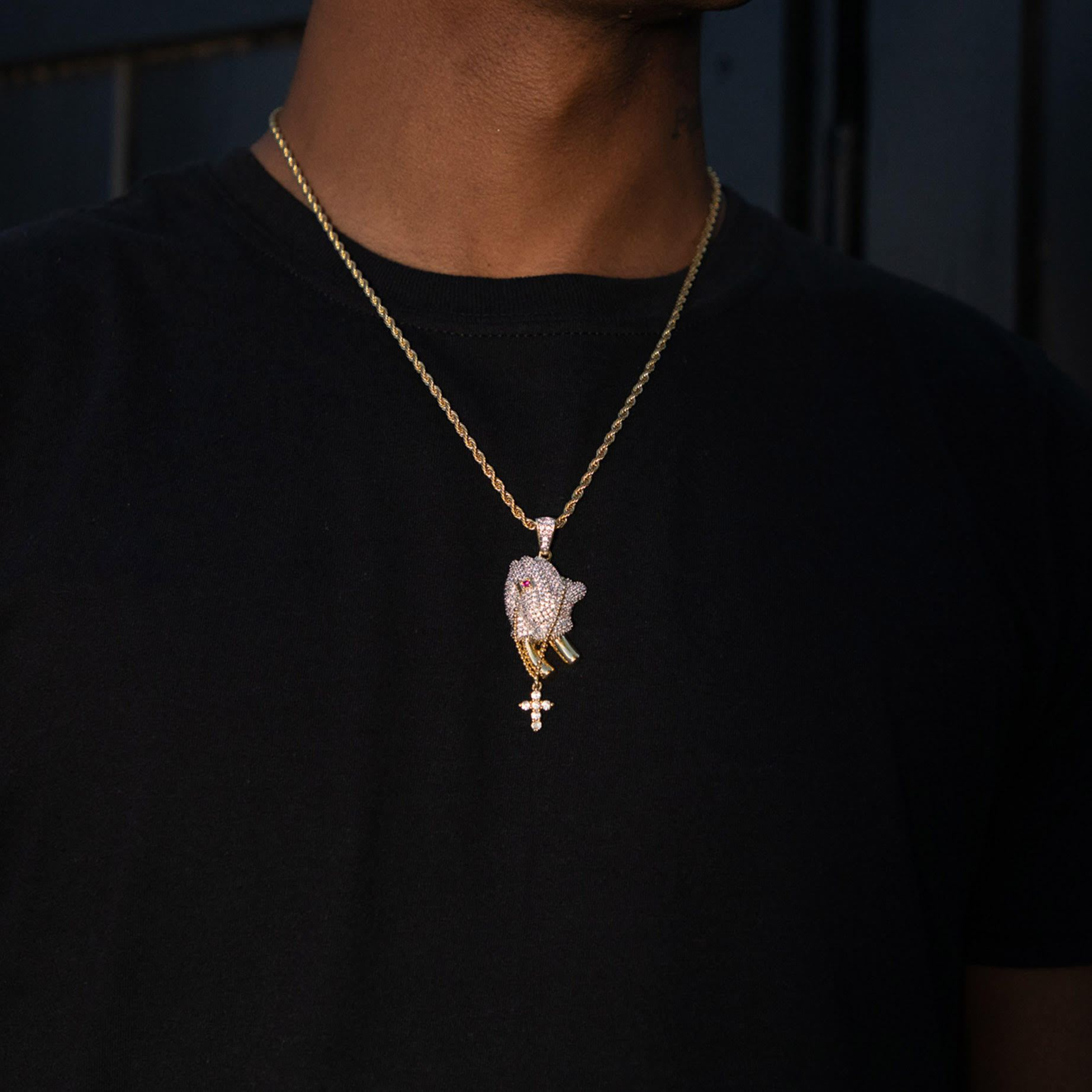 Iced Praying Hands Pendant - Got Drip - Jewelry - Ice - Jake Paul