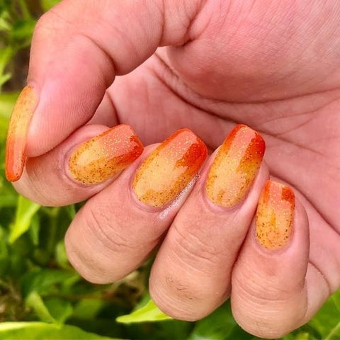 Gallivanting Nails thermal nail polish I Love A Sunburnt Country, Indies Down Under March 2021