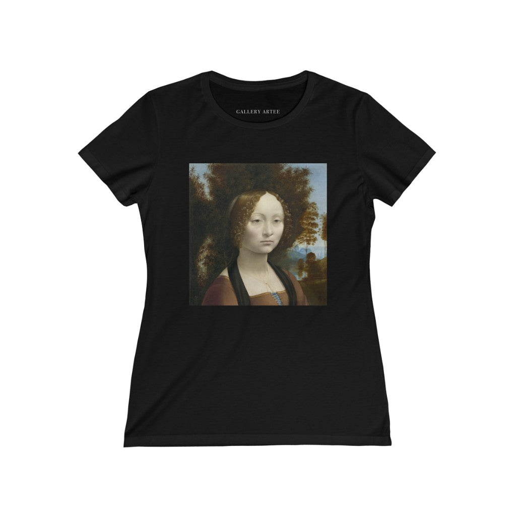 Ginevra de' Benci [obverse] | Women's Soft Cotton Tee