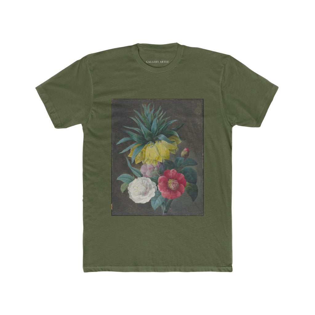 Four Peonies And A Crown Imperial | Men's Soft Cotton Tee