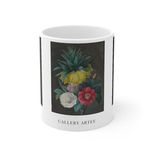 Ceramic Mug | Four Peonies And A Crown Imperial