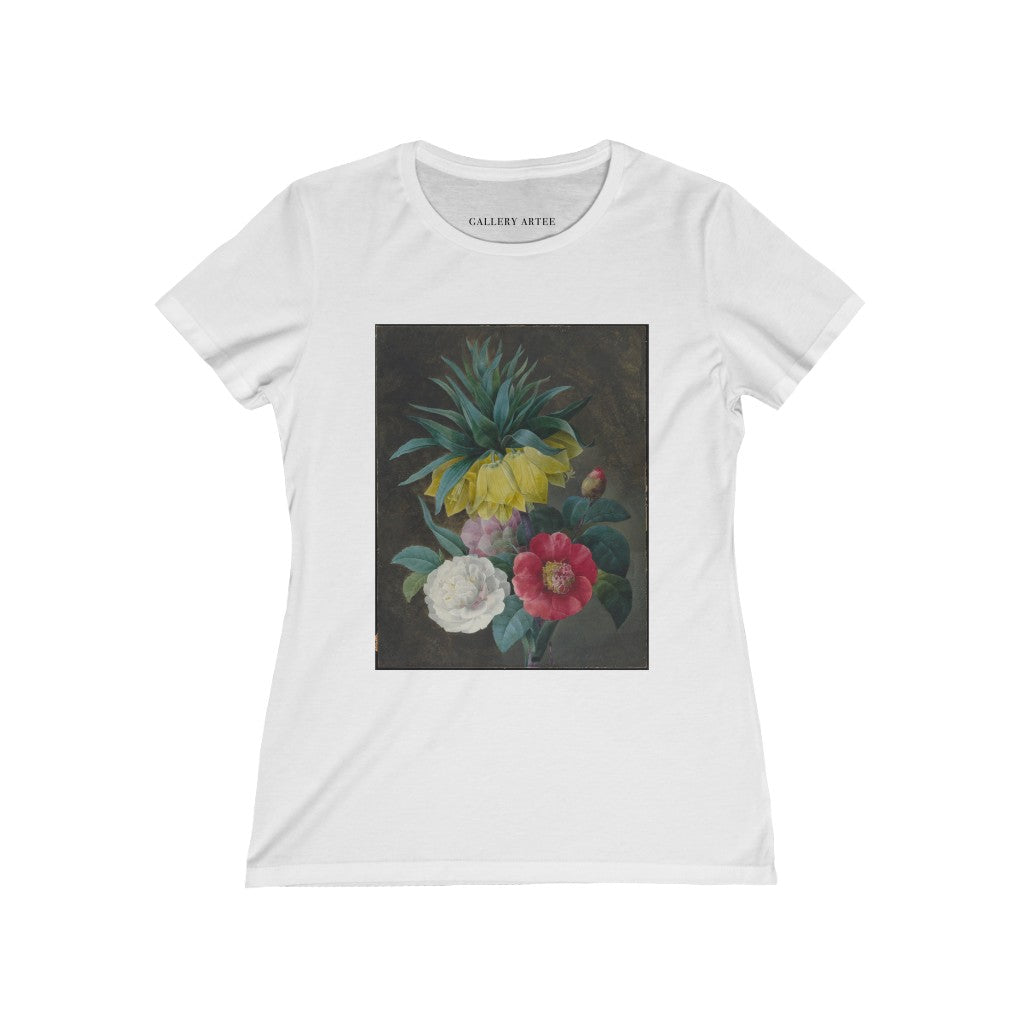Four Peonies and a Crown Imperial | Women's Soft Cotton Tee