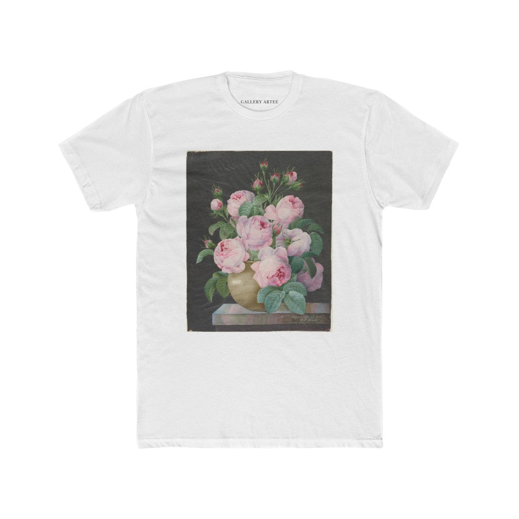 Pink Roses In A Vase | Men's Soft Cotton Tee