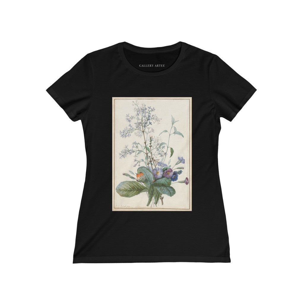 A Bouquet of Flowers with Insects | Women's Soft Cotton Tee