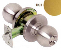 NSP KC3681 EMP US3 SC1 Grade 3 Empire Entry Knob, C Kwy, Adjustable Backset